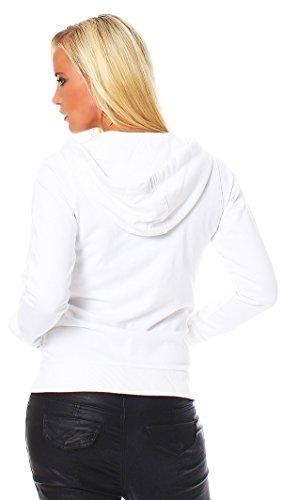 Scorpion Bay Damen Fleecejacke Swaeter Kapuzensweater Sweatshirt Sweatjacke WFE3036