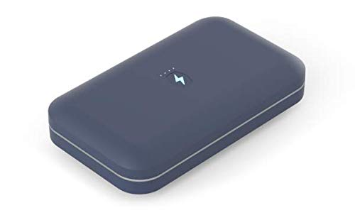 PhoneSoap Go Battery-Powered Smartphone Sanitizer & Portable Charger | Patented & Clinically Proven UV Light Disinfector | Indigo