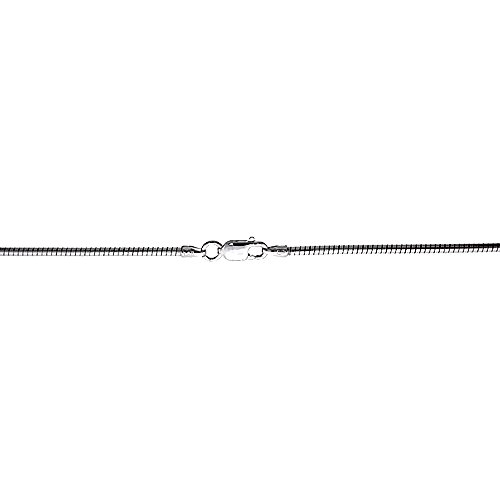 Sterling Silver Soft Wire Round Omega Neck 2mm Choker Nickel Free Italy, 20 inch ()