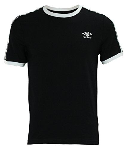 Umbro Men's Signature Short Sleeve Shirt, Black/White ()