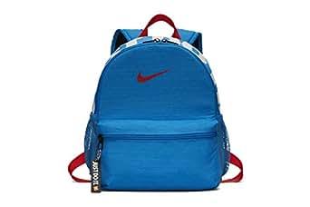 Nike Brasilia JDI Mini Backpack For Kids - NKBA5559-406 (Multicolour (Blue/Habanero Red))