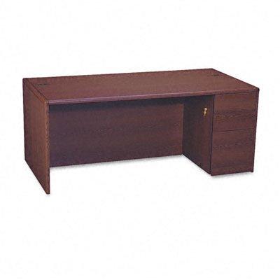 HON 10787RNN 10700 Single Pedestal Desk, Full Right Pedestal, 72w x 36d x 29 1/2h, Mahogany - Hon 38000 Series Modular Desk