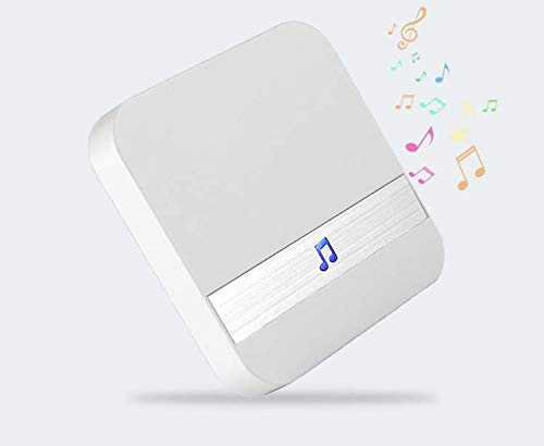 Sarcch Doorbell Chime Door Chime Wireless Indoor WiFi Match To Video Doorbell Loud Extender Transmitter Ring Tone Volume&Melody Selection For Home Security