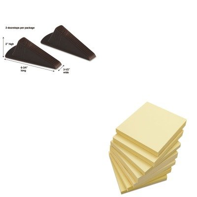 KITMAS00969UNV35668 - Value Kit - Master Caster Giant Foot Doorstop (MAS00969) and Universal Standard Self-Stick Notes (UNV35668) by Master Caster