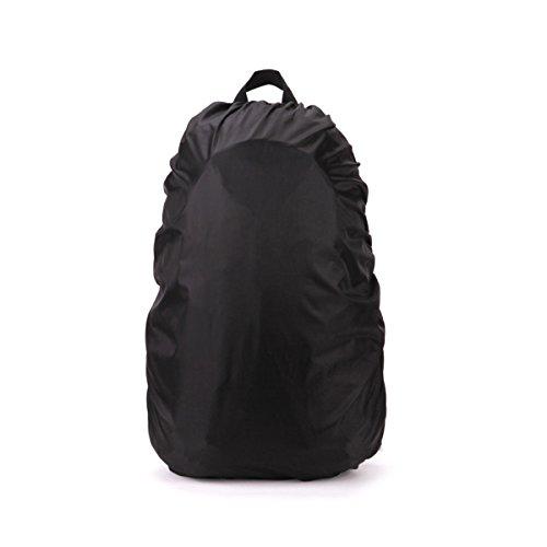 PIXNOR wasserdichter Rucksack Cover Tasche Regendichtes Pack Regenabdeckung für Camping Wandern (schwarz)