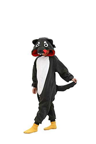 Kids Onesie for Girls Boys Halloween Costumes Wolf Animal Pijama (6-8 Years) -