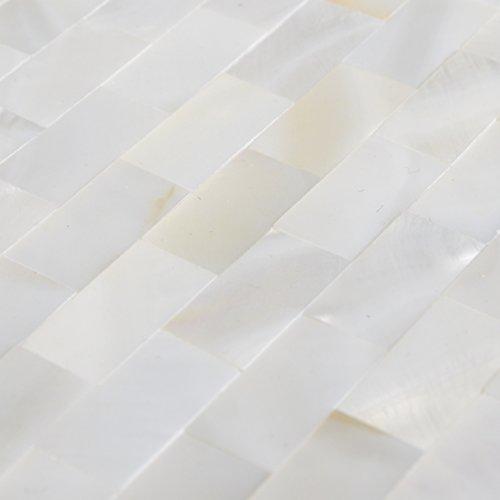White Mother of Pearl Tile Seashell Mosaic Tile Kitchen backsplash Tile Bathroom Tile Wall Tile Mosaic Tile - Sample (White Kitchen Backsplash compare prices)