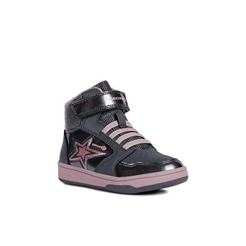 pasta Barriga Expectativa  Geox Girls' Maltin HIGH TOP Sneaker - tiendamia.com