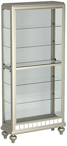 Pulaski P021568 Mirrored Metallic Side Entry Curio Cabinet 35.3'' x 13.3'' x 78.0'' by Pulaski (Image #1)