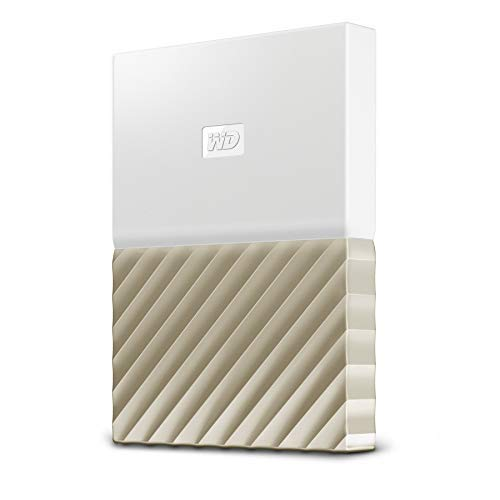 WD My Passport Ultra 1 TB Portable Hard Drive - White/Gold