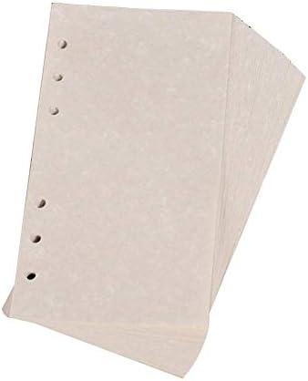 40 Blatt Notizbuch Lose Blatt Nachfüllblätter A5/A6/A7 nachfüllbar 6-Loch-Papier Scrapbook Tagebuch Planer Tagebuch Notizbuch Einlagen Nachfüllpapier A5 gelb