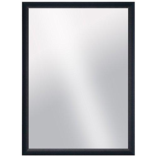 Raphael Rozen , Modern Hanging Framed Wall Mounted Aluminum Metal Mirror (Jet Black, 22x32)