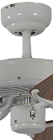 132 cm Pepeo GmbH 13312010132 Ventilatore da Soffitto Potkuri 240 V Bianco