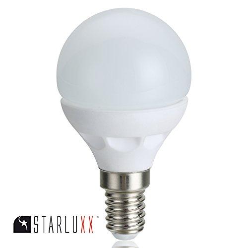 Starluxx 4 8w Led Tropfen Kugel Lampe E14 470 Lumen 230v In Warm