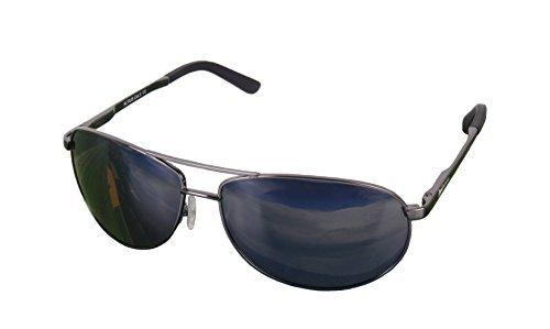 Rapid Eyewear Altius Polarised Aviator-Style Sunglasses, with AR Coated Mirror Lenses by Rapid Eyewear