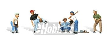 N Baseball Players I Woodland Scenics - Figures Scale Baseball