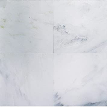 Bianco Carrara (White Carrera) Polished Marble 12 X 12 Tile