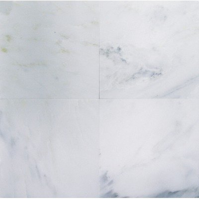 Bianco Carrara (White Carrera) Polished Marble 12 x 12 Tile by Marble 'n things