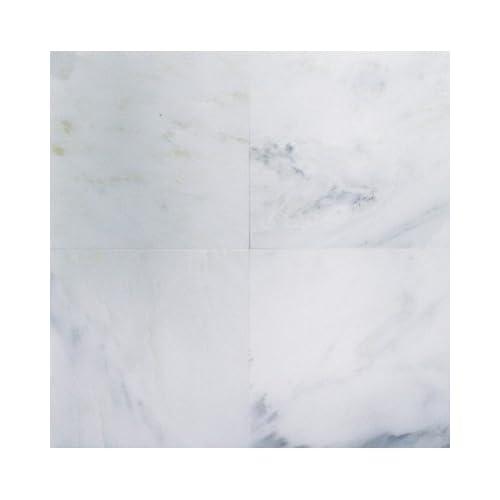 Bianco Carrara White Carrera Polished Marble 12 X 12 Tile
