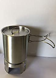 New Stainless Steel Canteen Cup with Vented LID and New Stainless Steel Stove.