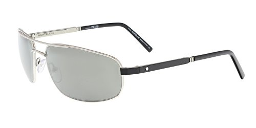 Sunglasses Montblanc MB 650 S MB 650 S 16C shiny palladium / smoke ()