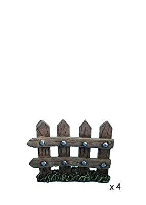 Hi-Line Gift Ltd Fairy Garden Fence Figurines