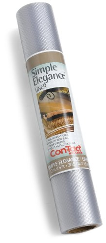 Con-Tact Simple Elegance Shelf Liners, Clear, 5-Foot Roll (Pack of 6)
