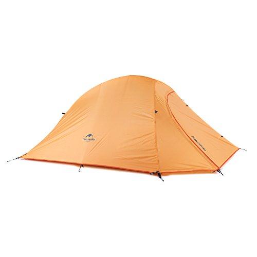 Naturehike Backpacking Hiking Tent 4 Season 2 Person Lightweight Waterproof for Camping (Orange)
