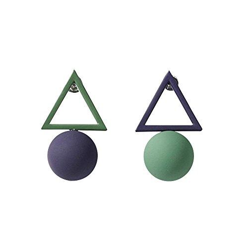 Simple Geometric Triangle Earrings Female Bead Jewelry Earrings Asymmetric