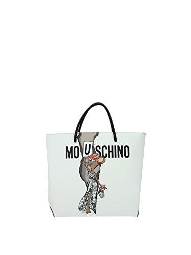 Borse a Mano Moschino Donna - Tessuto (A75928251) Bianco Footlocker Línea Barata Estilo De Moda J0uRXkS