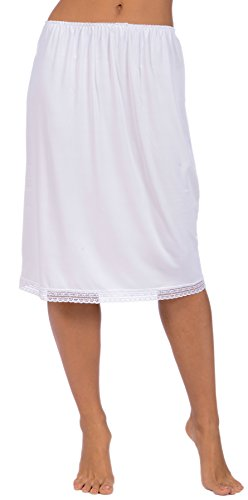 Nylon Slip Skirt (Patricia Lingerie Women's Half Slip with Soft Stretch Fabric and Lace Trim 24