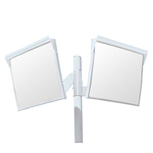 ホップ アクリル製 道路反射鏡 2面鏡と支柱(ポール)セット 角型80cm×60cm HPLA-角6080WP白 日本製 道路反射鏡協会認定商品   B01JHQGBBO