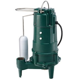 "Zoeller M807 - 1 HP Cast Iron Residential Grinder Pump (1-1/4"") w/ Vertical Float - 807-0001"