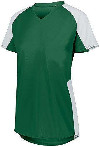 Augusta Sportswear Girls Cutter Jersey L Dark Green/White