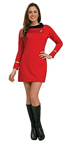 Secret Wishes  Star Trek Classic Deluxe Red Dress, Adult (Star Trek Classic Dress)