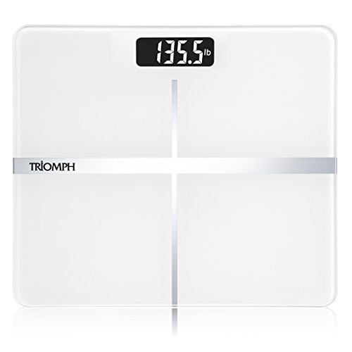Triomph Precision Digital Body Weight Bathroom Scale with Backlit Display, Step-On Technology, 400 lbs Capacity and Accurate Weight Measurements, - Readability Reading Classics Low