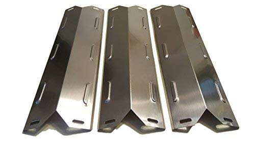 Set of Three Stainless Steel Heat Plates for Select Kenmore Gas Grill Models ()