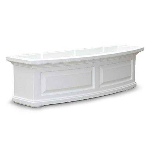 White Flower Boxes - Mayne 4830W Nantucket Window Box, White, 3-Feet