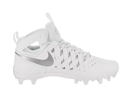 Scarpe da uomo Nike Huarache V Lax bianco / metallo argento lucido 9 Uomo Stati Uniti