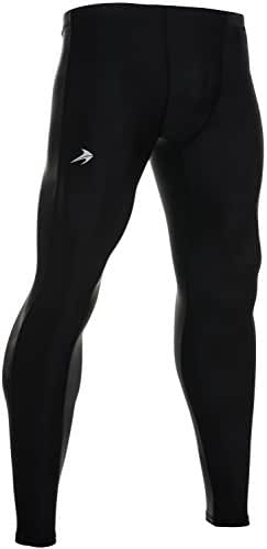 Men's Compression Pants - Workout Leggings for Gym, Basketball, Cycling, Yoga, Hiking - Rash Guard + Performance Running Tights - Athletic Base Layer Pants/Thermal Underwear for Men