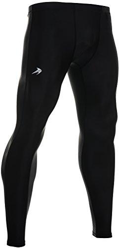 Compression Pants Men's Tight Base Layer Leggings, Medium, Black