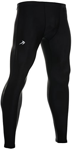 (Compression Pants Men's Tight Base Layer Leggings, Large, Black)