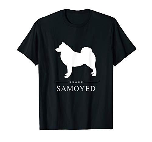Samoyed : White Silhouette T-Shirt ()