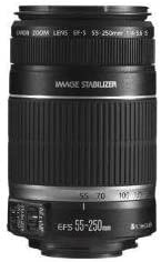 No Warranty International Version Canon EF-S 55-250mm f//4-5.6 is Image Stabilizer Telephoto Zoom Lens