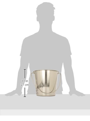 Image of QT Dog Flat Sided Stainless Steel Bucket, 9 Quart