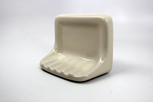 Bath Accessories Bone Almond Ceramic Soap Dish Holder