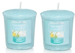 Yankee Candle 2 Pack Happy Spring Votive Candles. 1.75 Oz.