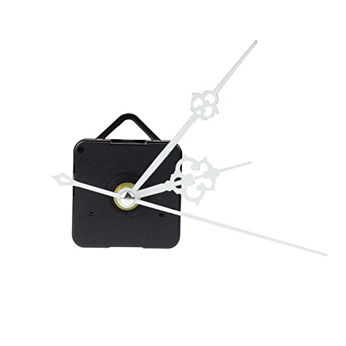 - Glumes White Quartz Clock Include Hands Quartz DIY Wall Clock Movement Mechanism Battery Operated DIY Repair Parts Replacement for Clock Repair