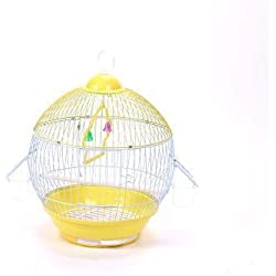 Gold Happy Ball Type Simplified Bird Cage Home Ornamental Wire Cages Metallic Iron Antique Decorative Wedding Birdcage Decoration