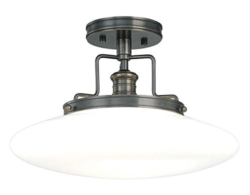 Old Bronze Single Light Ceiling Fixture from the Beacon Collection - Ob Beacon Old Bronze